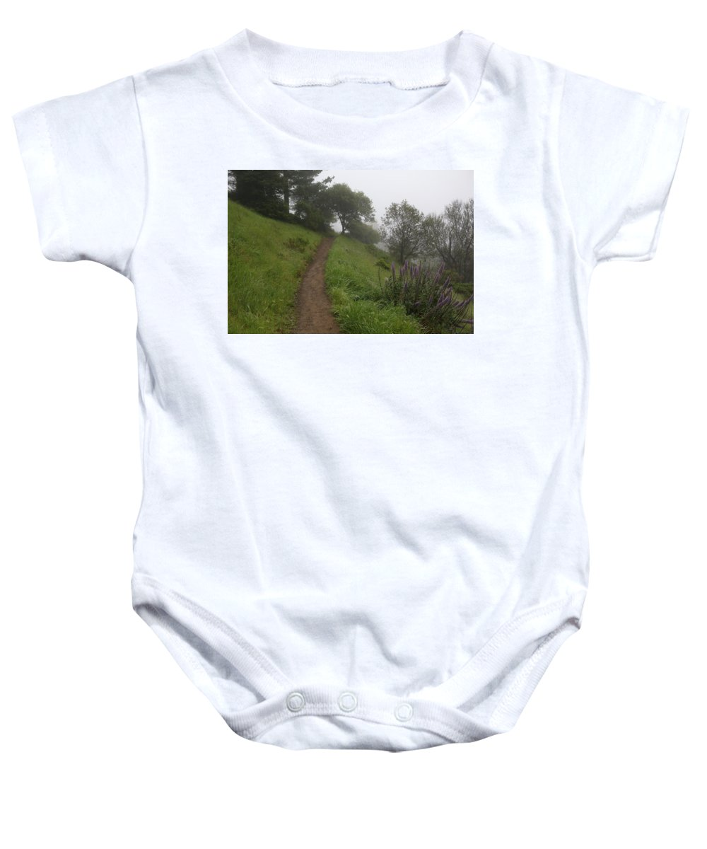 Dirt Trail Hike California Baby Onesie featuring the photograph Happy Trail by Colby Foster