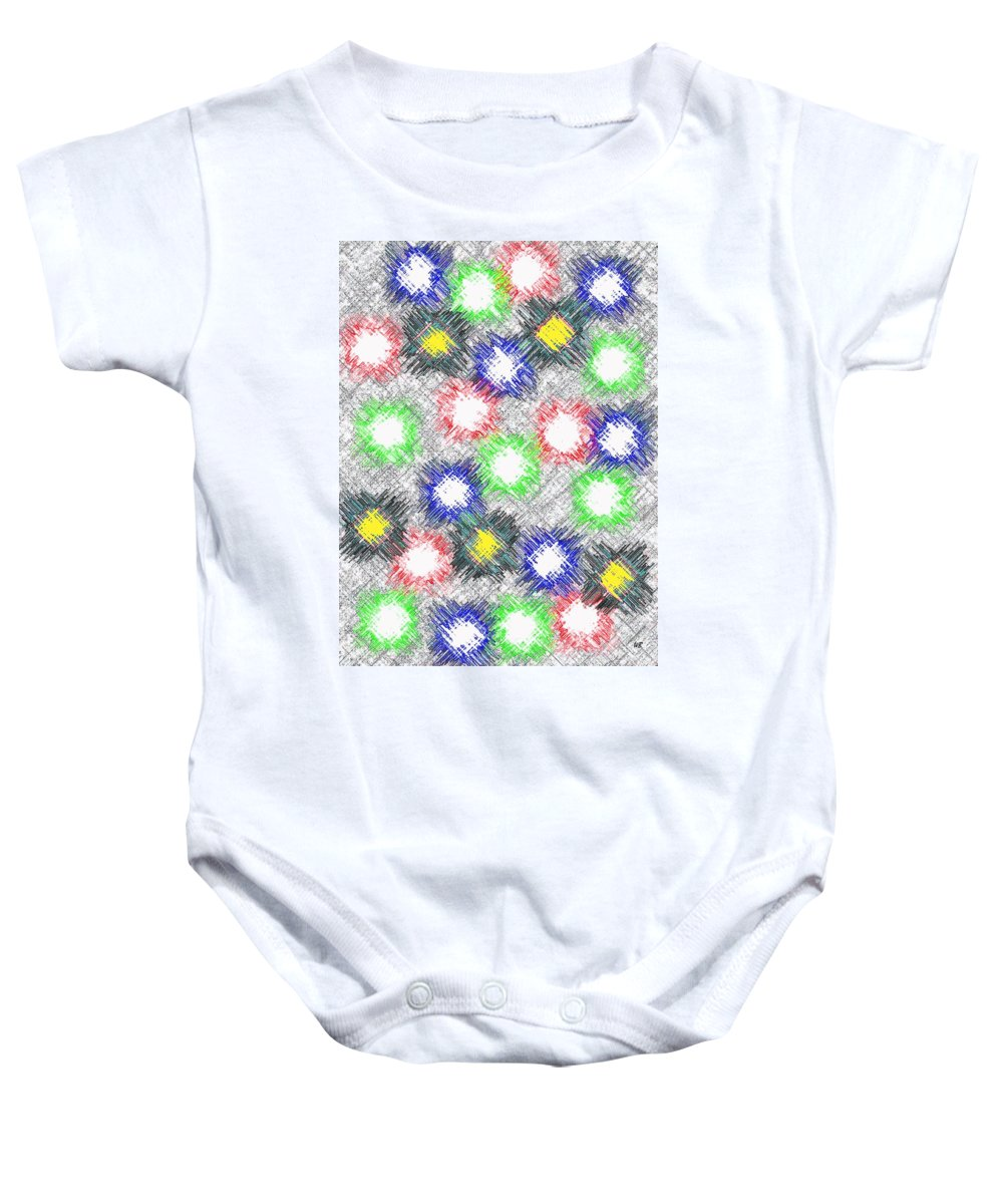 Abstract Baby Onesie featuring the digital art Harmony 32 by Will Borden