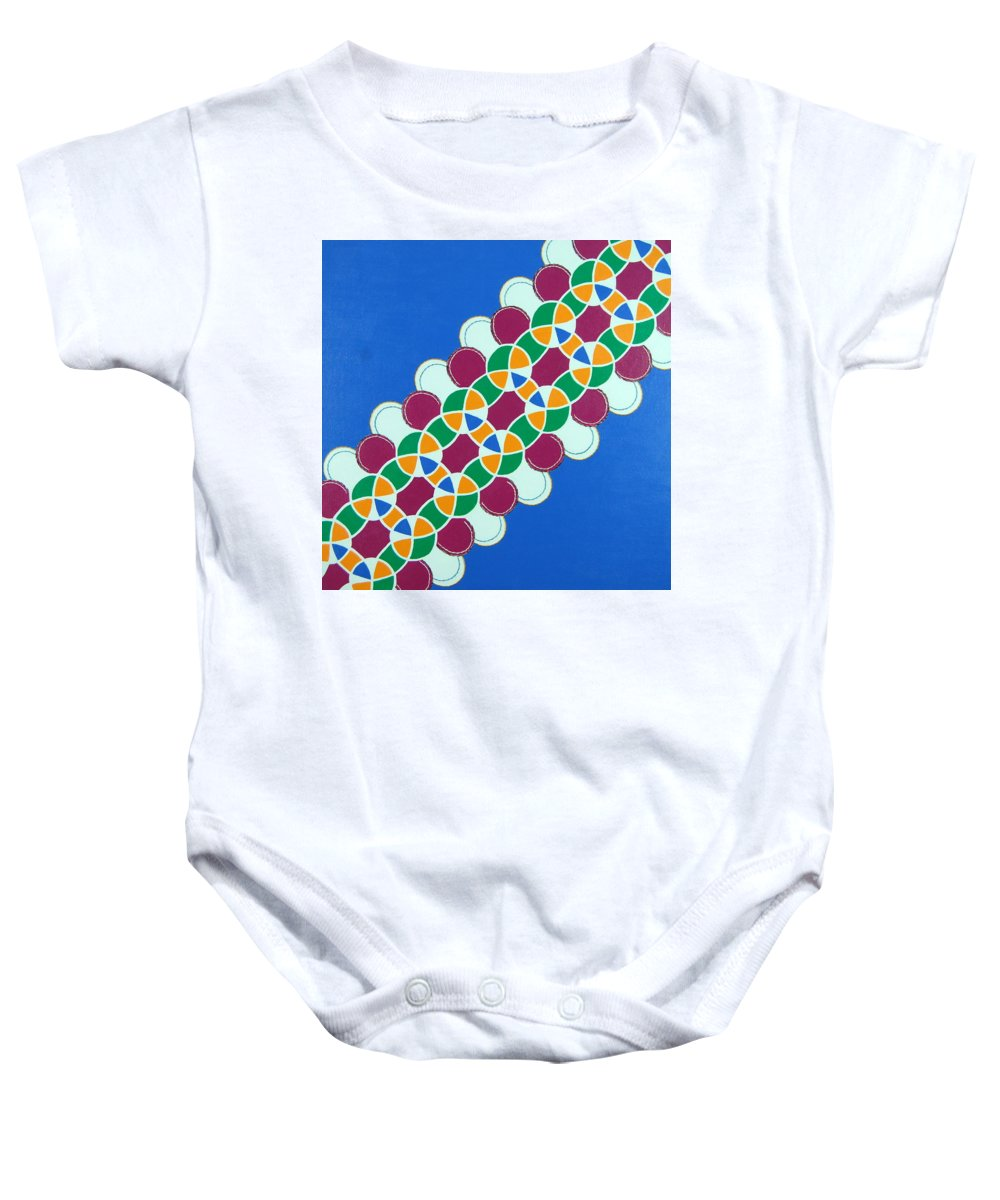 Decoration Baby Onesie featuring the mixed media Head Band by Rita Lulay Malsch
