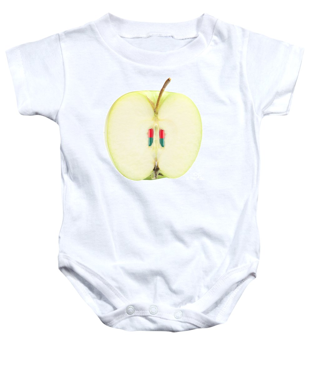 Apple Baby Onesie featuring the photograph Healthy Apple by Johan Swanepoel