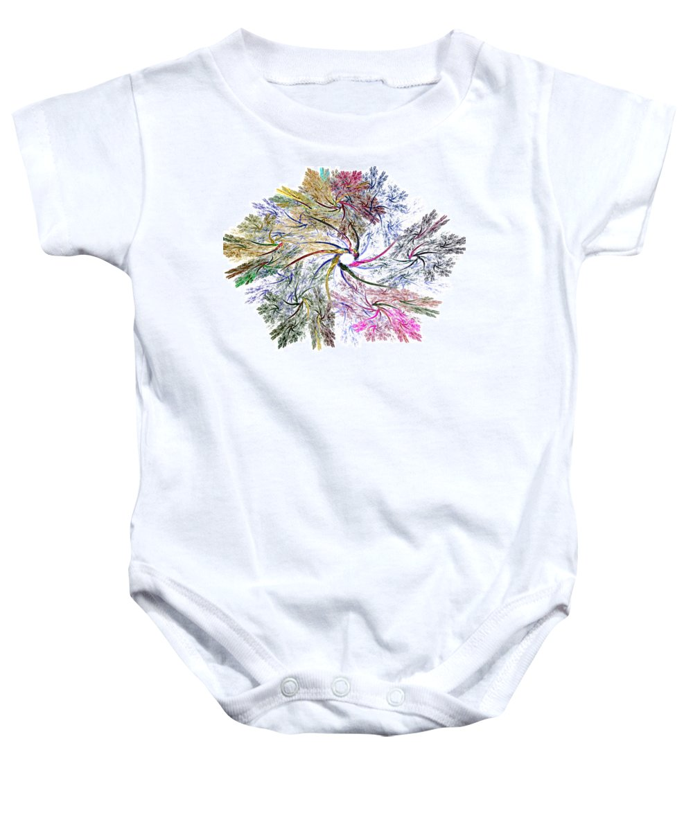 Fine Art Baby Onesie featuring the digital art Here There Be Dragons by David Lane