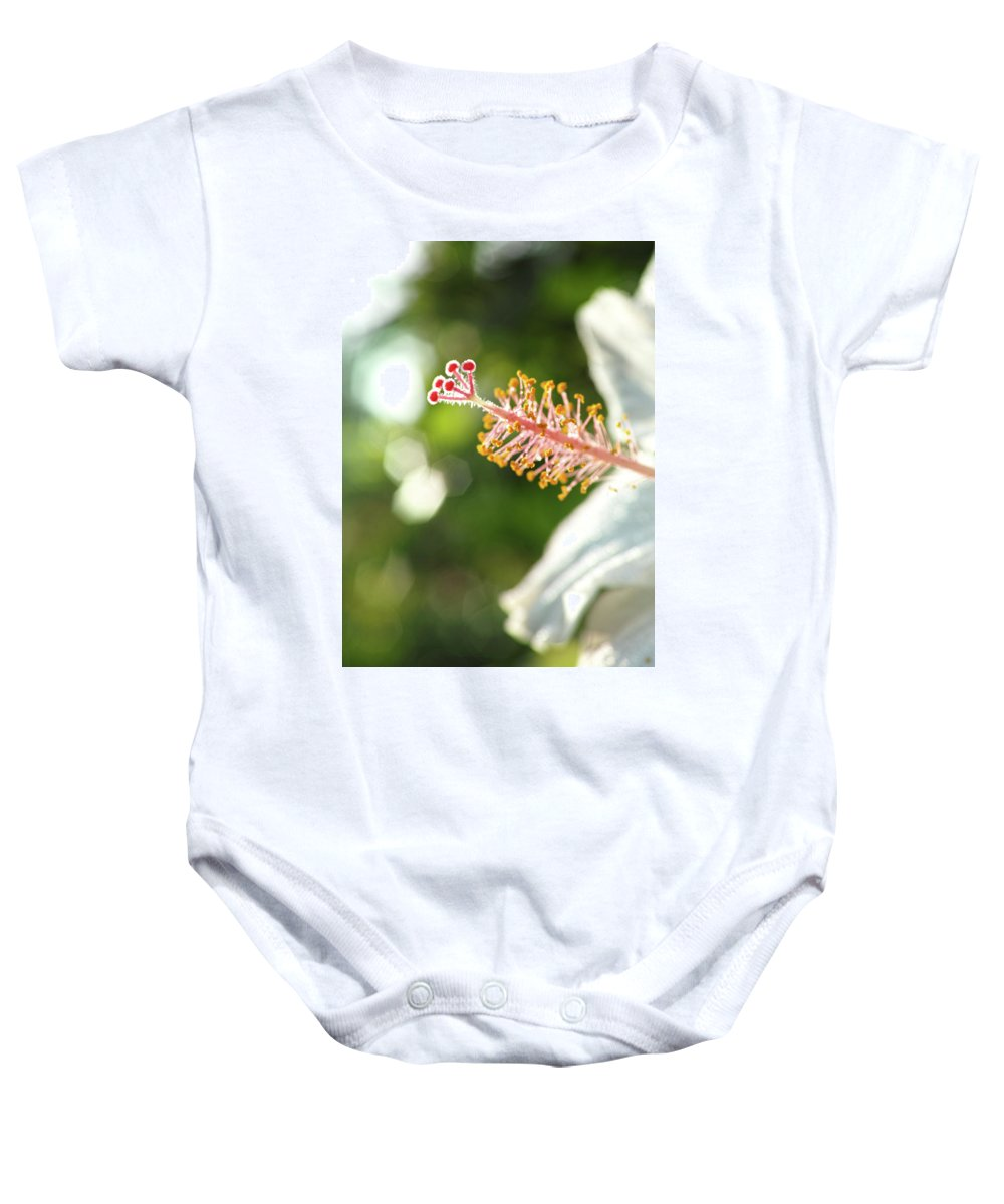 Baby Onesie featuring the photograph Hibiscus by Wayne Wilkinson