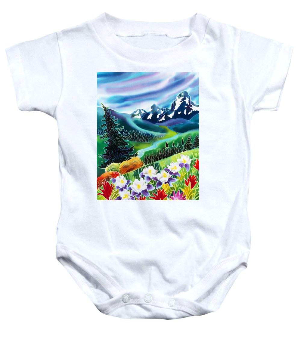 Indian Peaks Wilderness Paintings Baby Onesies