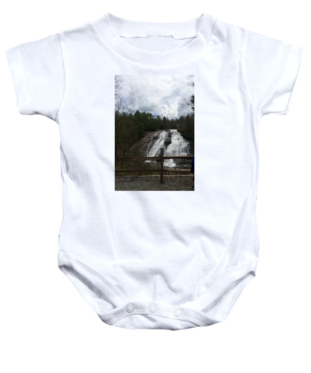 Waterfalls Baby Onesie featuring the photograph High Falls Dupont State Forest by Kristine Nutt
