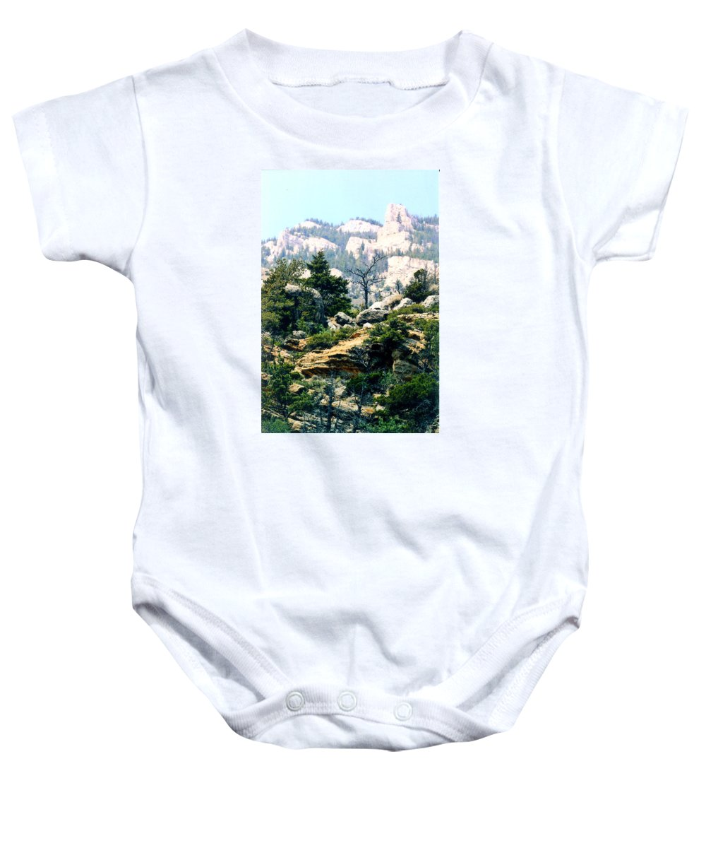 Mountains Baby Onesie featuring the photograph High Lonesome by Rusty Ruckel