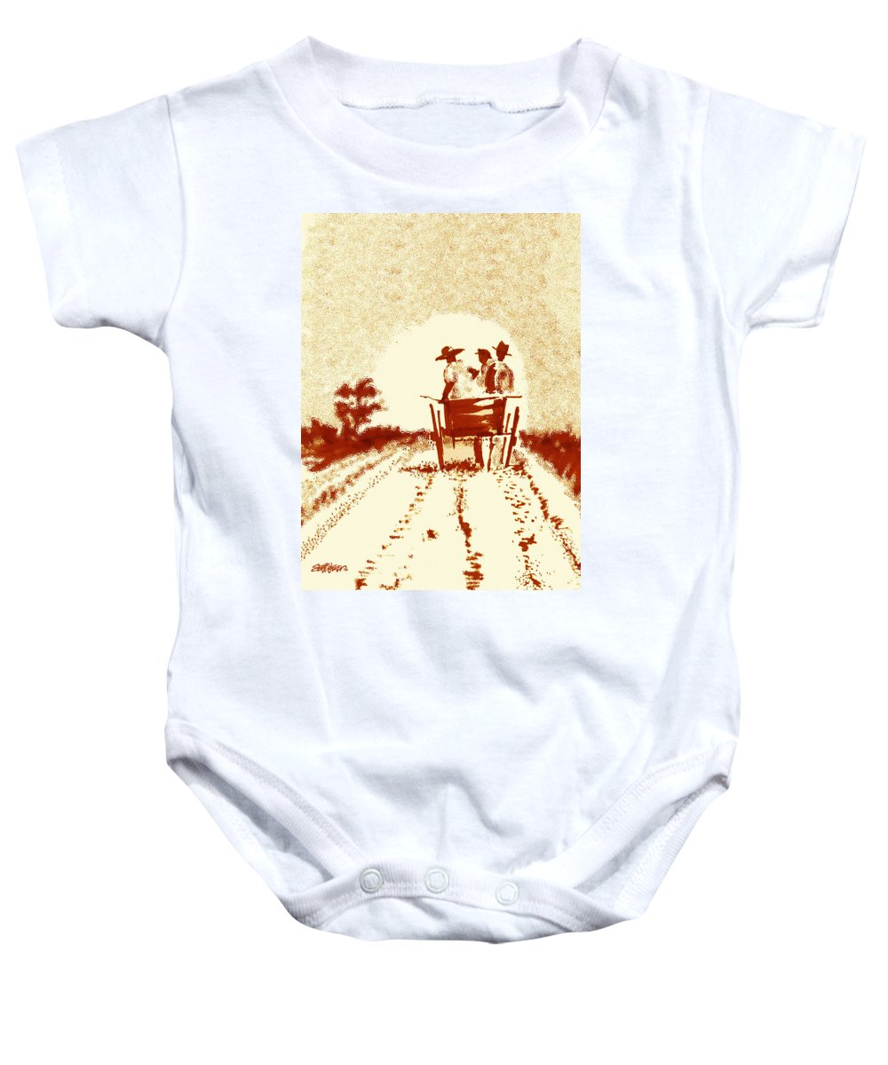 Old South Baby Onesie featuring the digital art Home Before Dark by Seth Weaver