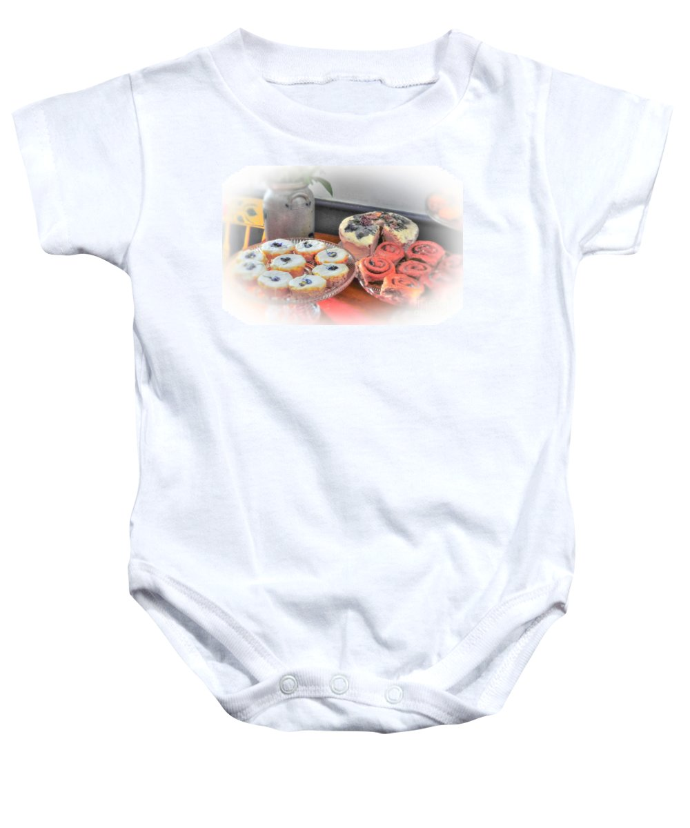 Home Baby Onesie featuring the photograph Home Made Deserts by Kathleen Struckle