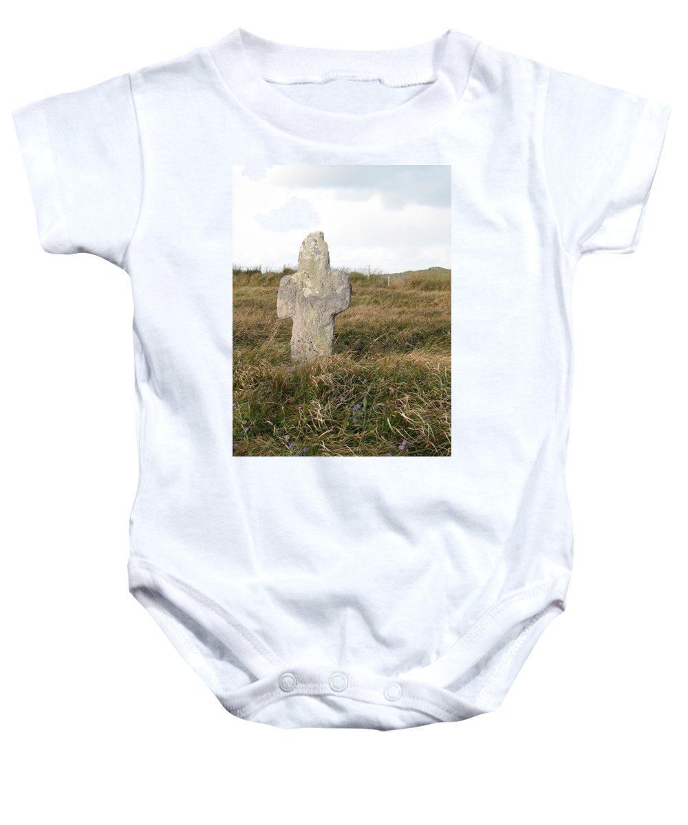 Cross Baby Onesie featuring the photograph Hope by Kelly Mezzapelle