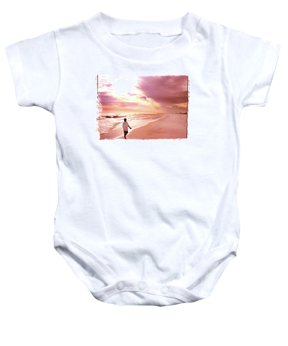 Sunset Baby Onesie featuring the photograph Hope's Horizon by Marie Hicks