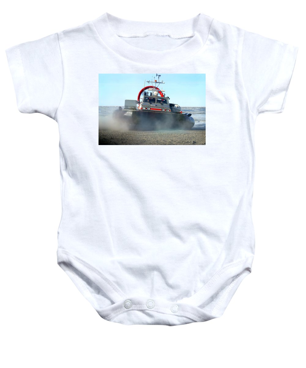 Hover Craft Baby Onesie featuring the photograph Hover Craft by Anthony Jones