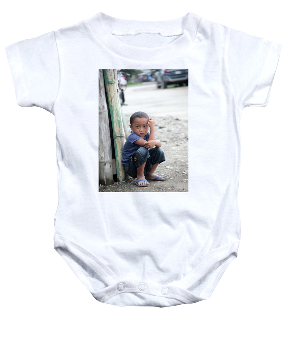 Mati Baby Onesie featuring the photograph How You'd Feel Here by Jez C Self