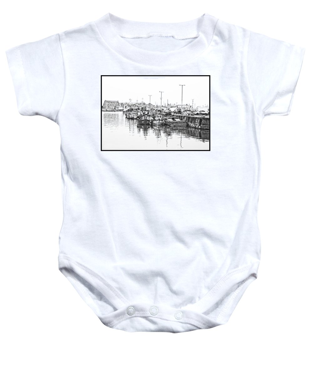 Howth Baby Onesie featuring the photograph Howth Ireland Bw by Alex Art and Photo
