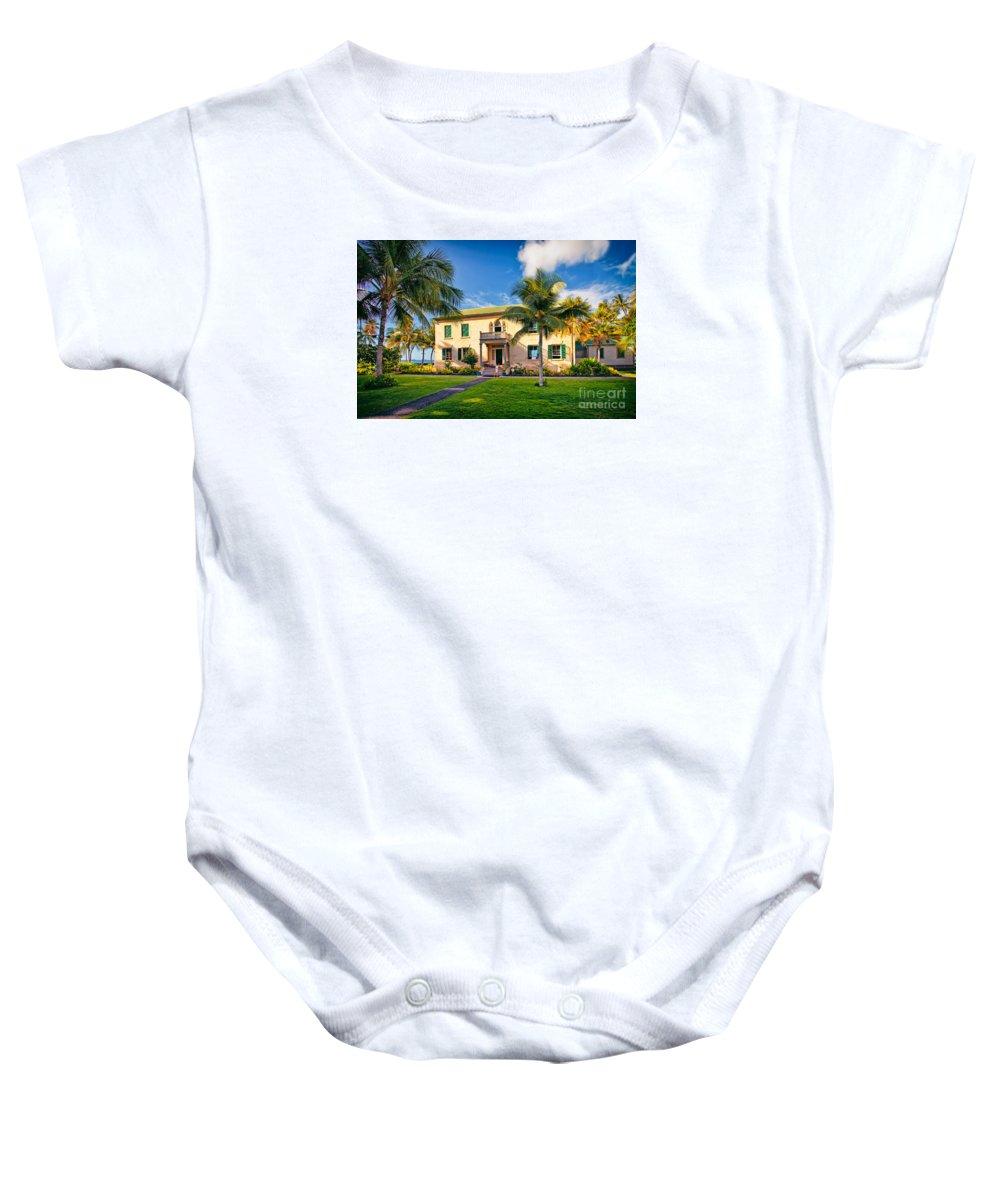 Hulihe'e Palace Baby Onesie featuring the photograph Hulihe'e Palace, Kona, Big Island Hawaii by Sam Antonio Photography