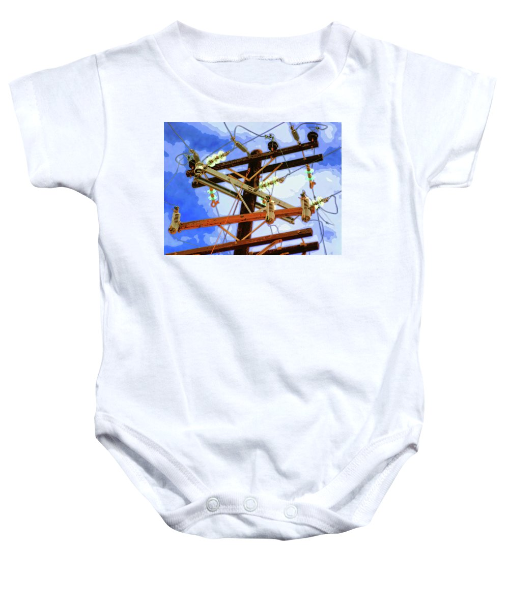 Hydra Baby Onesie featuring the mixed media Hydra by Dominic Piperata