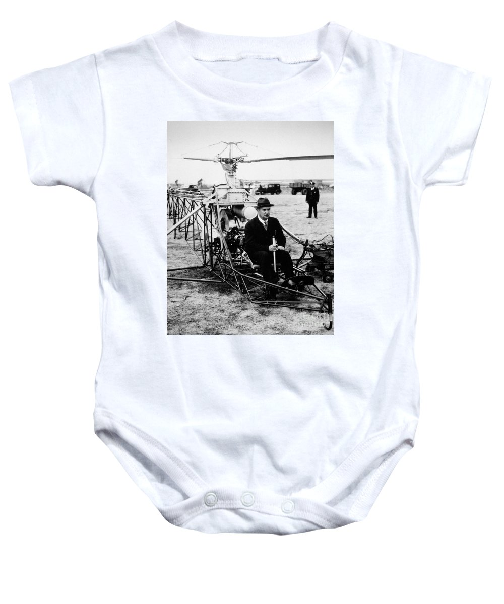 1940 Baby Onesie featuring the photograph Igor Ivan Sikorsky by Granger