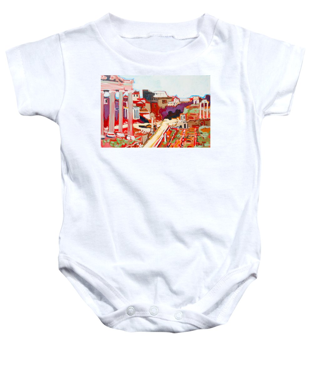 Rome Baby Onesie featuring the painting Il Foro Romano by Kurt Hausmann