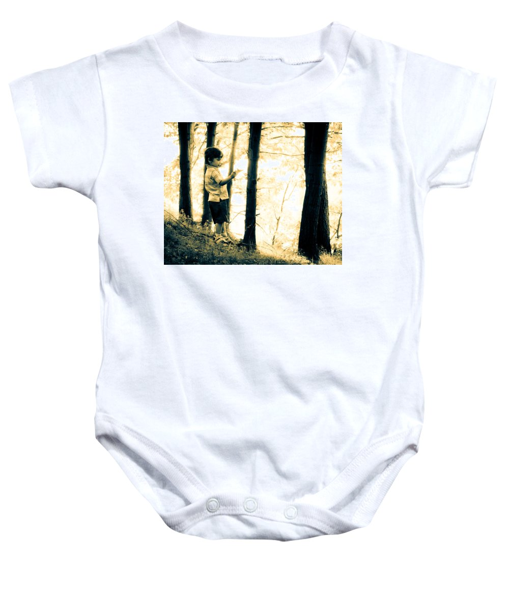 Human Baby Onesie featuring the photograph Imagination And Adventure by Bob Orsillo