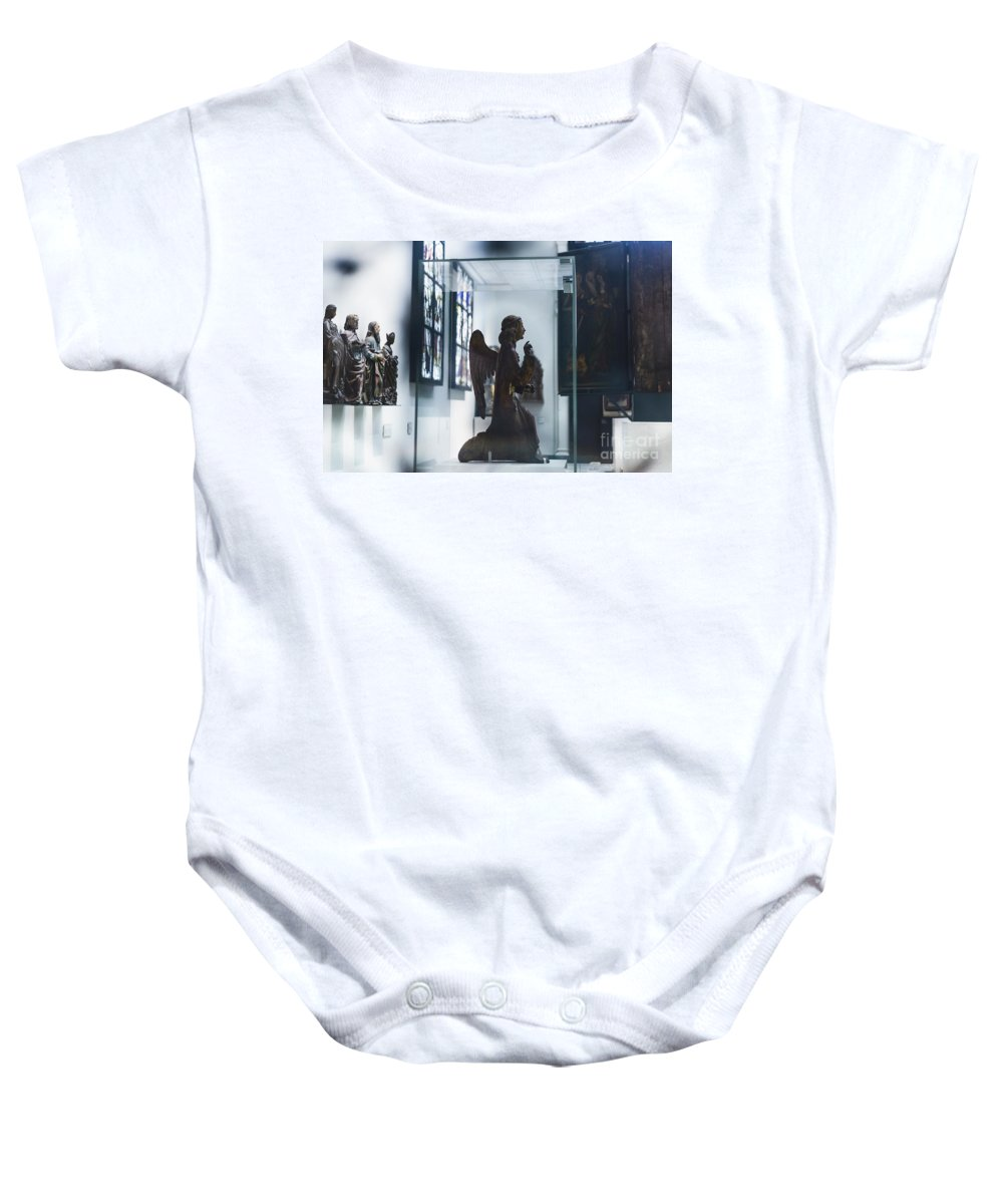 Angel Baby Onesie featuring the photograph In London Museums 9 by Alex Art and Photo