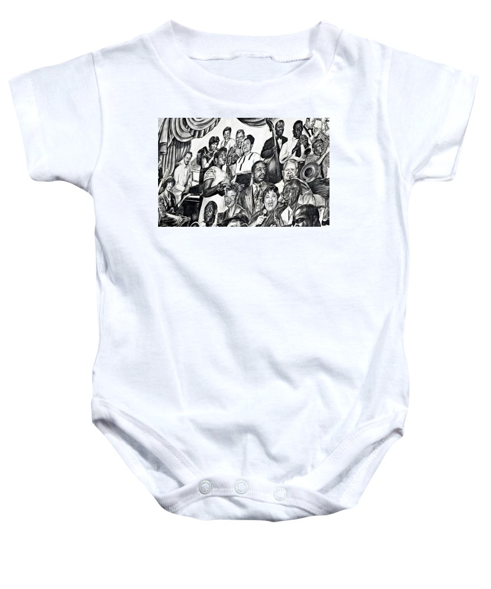 Louis Armstrong Airport Baby Onesie featuring the photograph In Praise Of Jazz IIi by Steve Harrington
