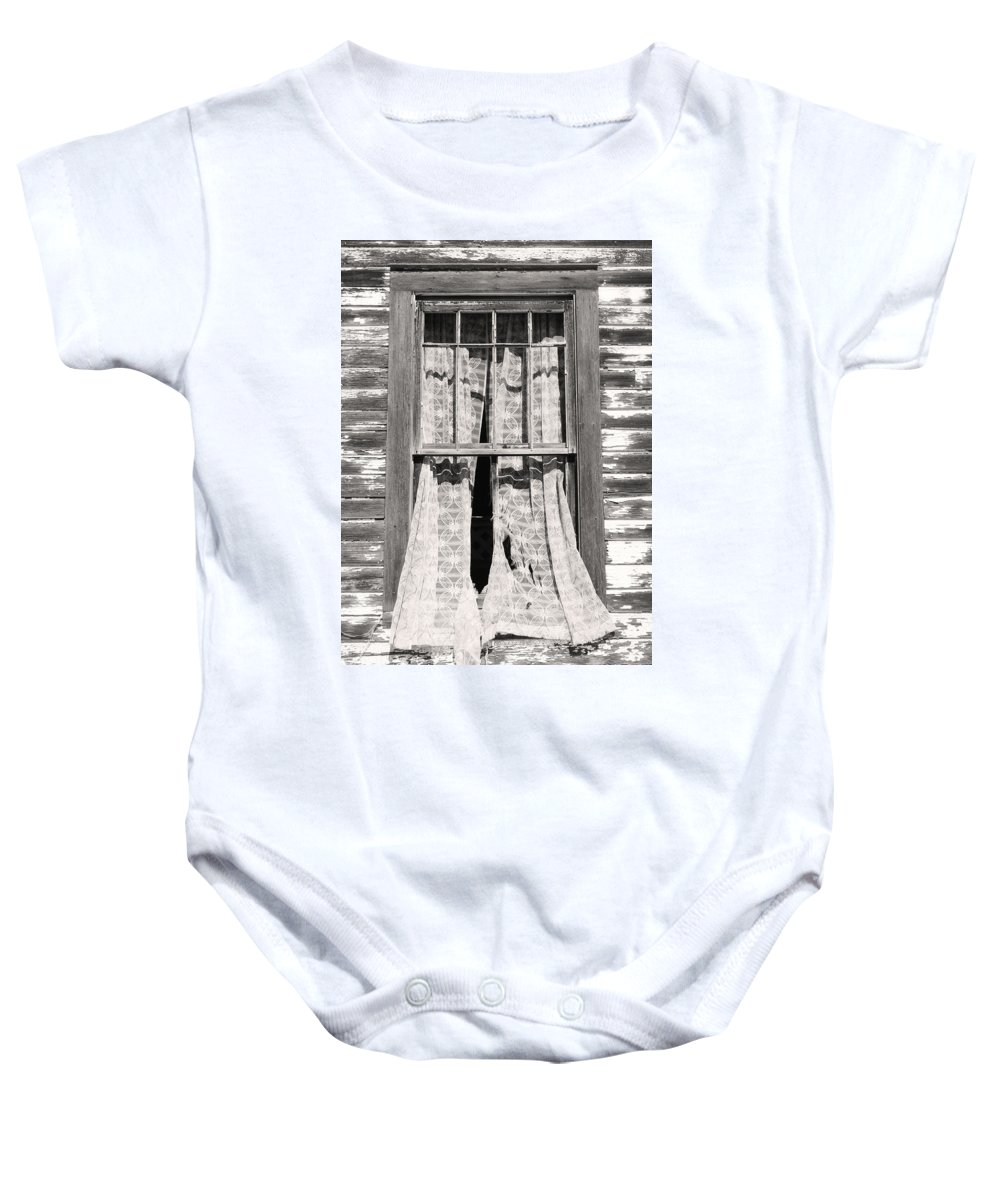 Window Baby Onesie featuring the photograph In Recent Years by The Artist Project