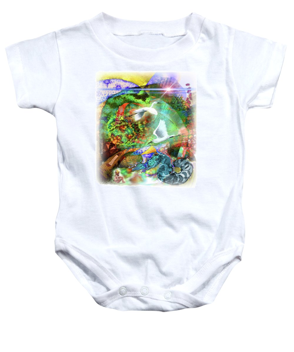 Nature Baby Onesie featuring the digital art In The Magnificence by Tony Macelli