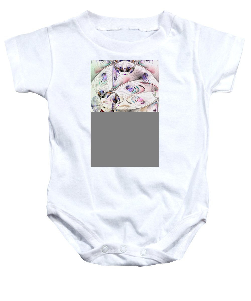 Abstract Baby Onesie featuring the digital art Inconceivable by Casey Kotas