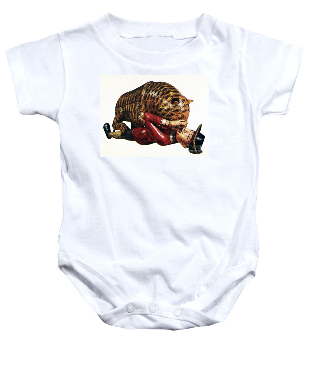18th Century Baby Onesie featuring the photograph India: Tiger Attack by Granger