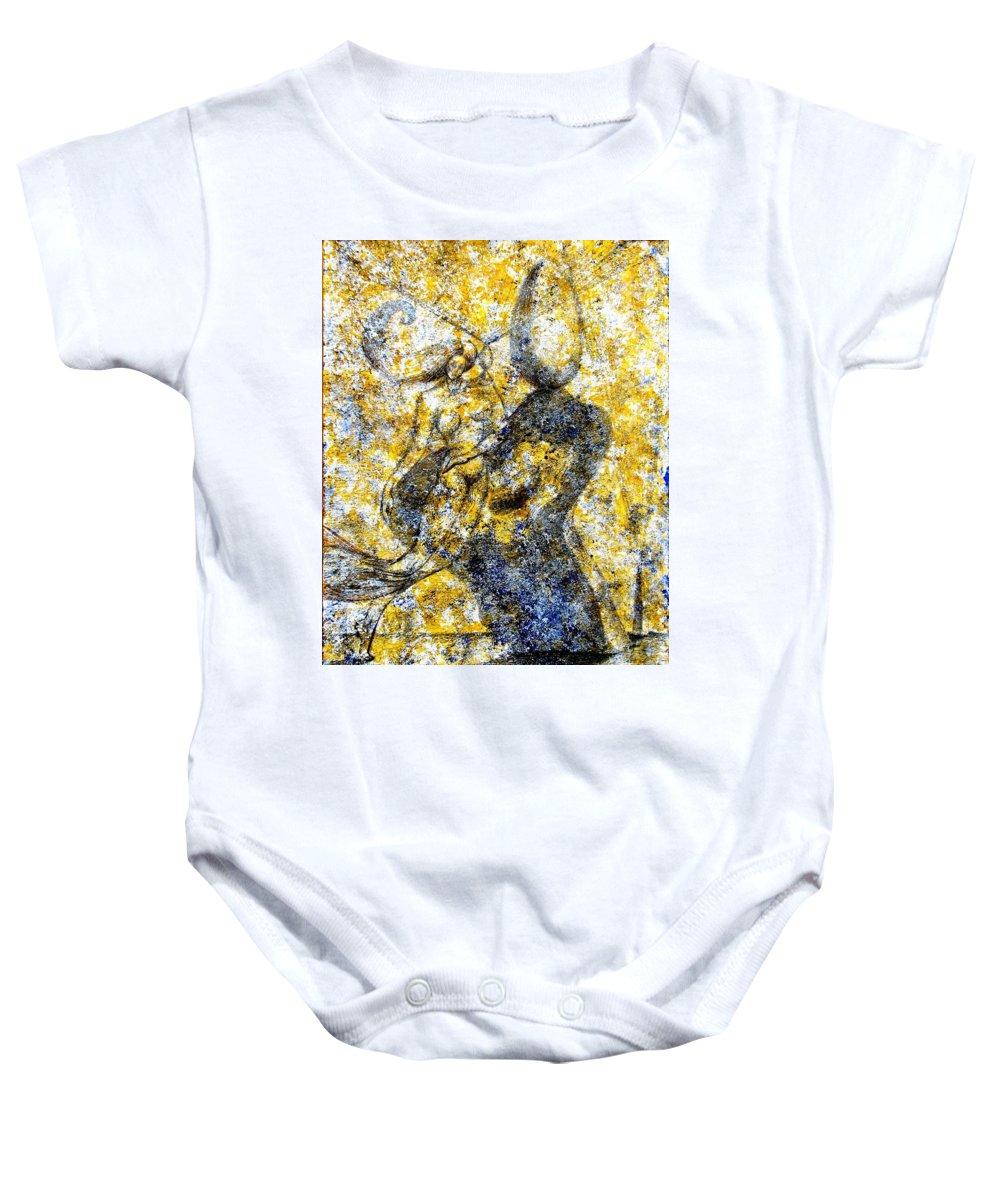 Inga Vereshchagina Baby Onesie featuring the painting Infusion by Inga Vereshchagina