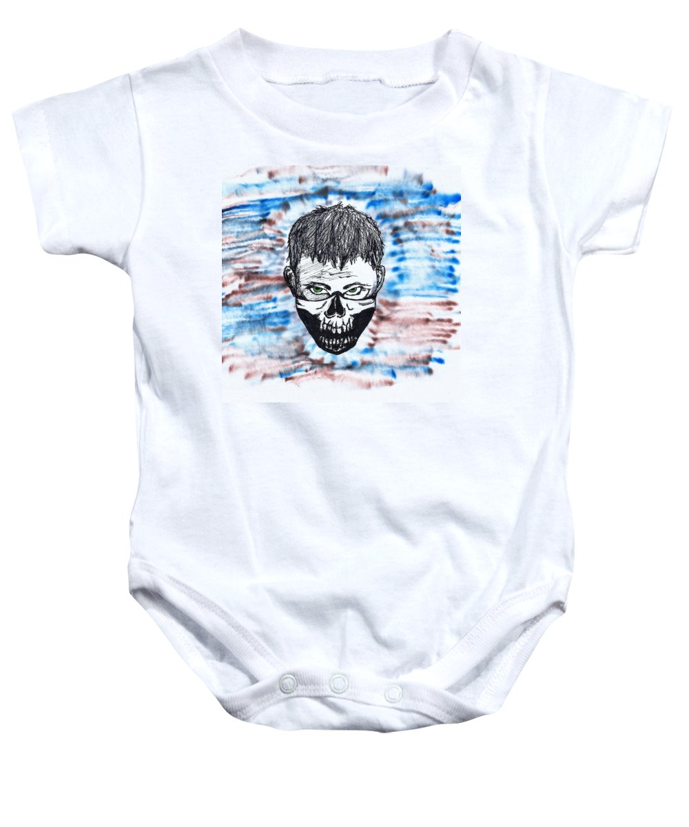 Military Baby Onesie featuring the photograph Inktober - Elite by Perggals - Stacey Turner