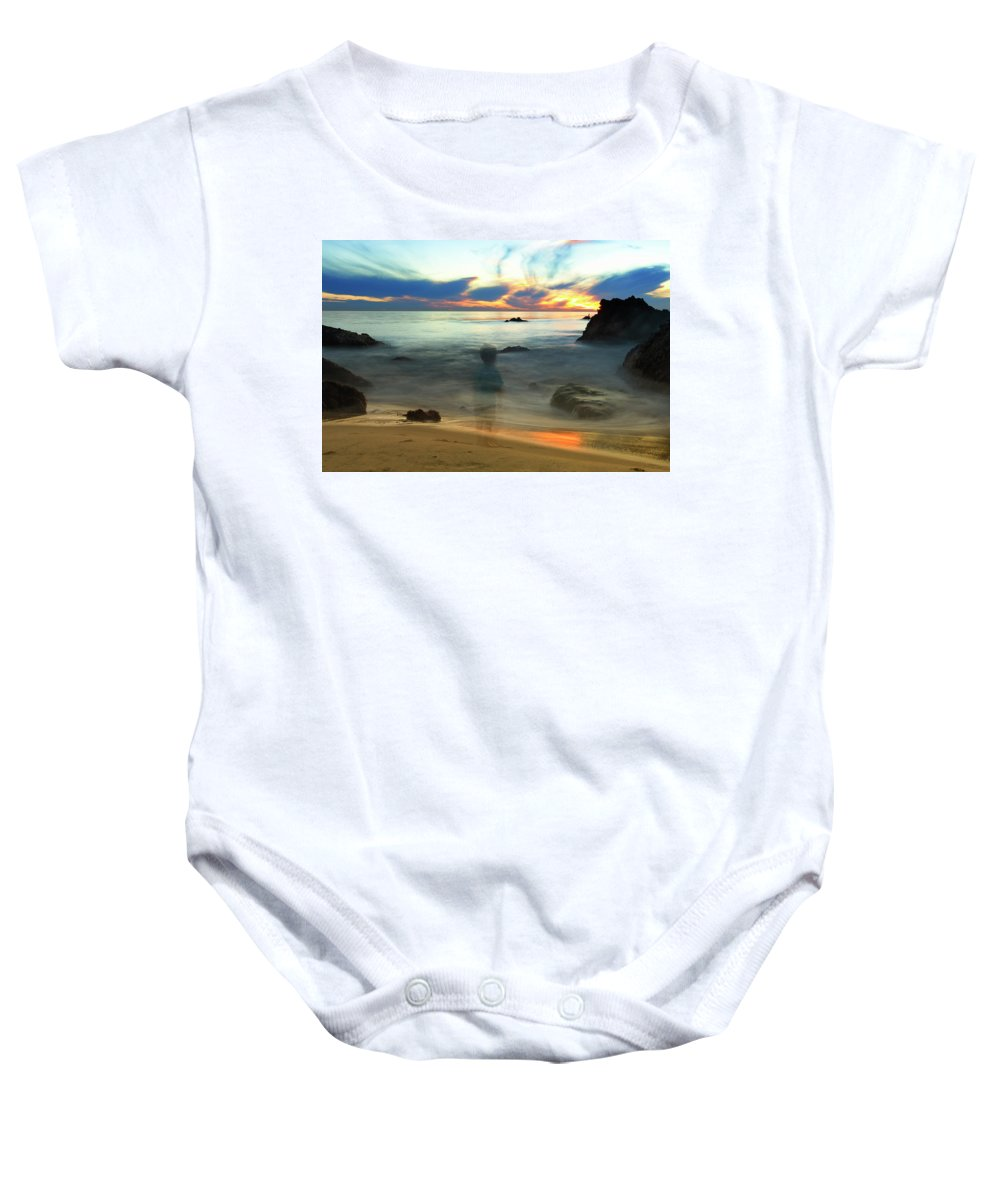 Ghost Baby Onesie featuring the photograph Inner Child's Wonder by Pat Dwyer