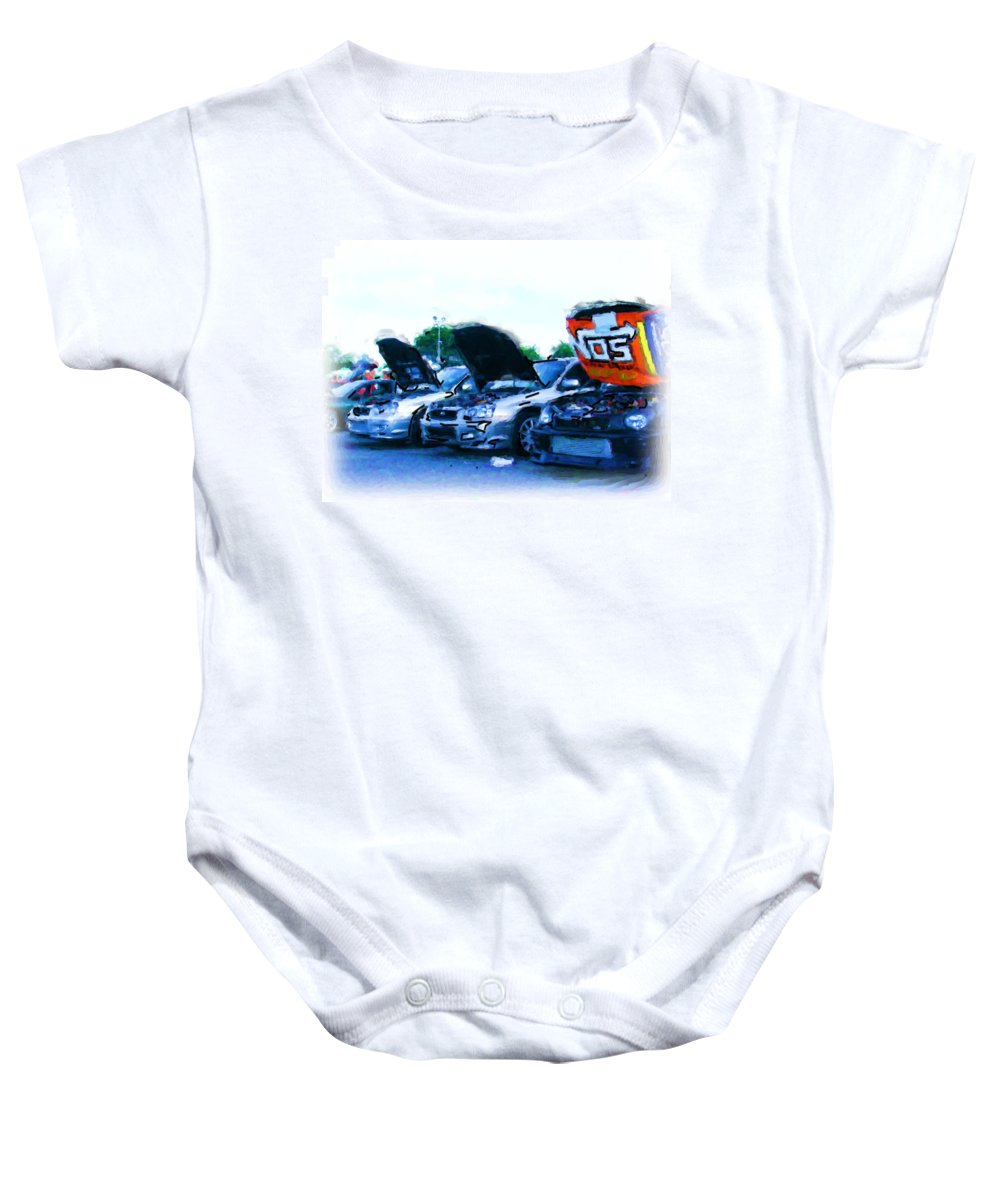 Import Cars Baby Onesie featuring the photograph Invasion Of The Import Cars by Nicholas Small