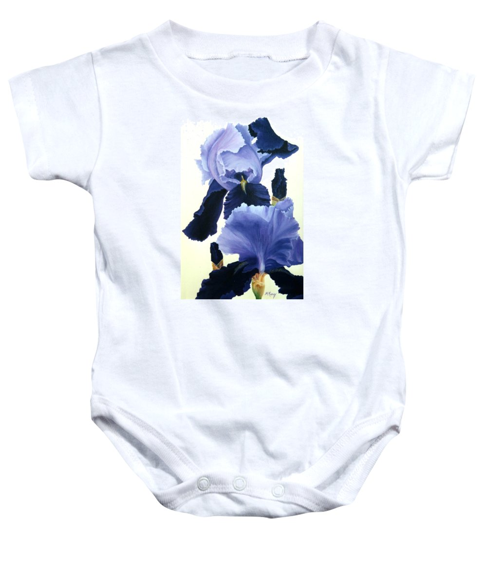 Flower Baby Onesie featuring the painting Iris by Melissa Joyfully
