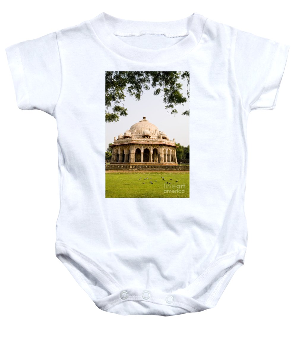 Ancient Baby Onesie featuring the photograph Isa Khan Tomb Burial Sites by Bill Bachmann - Printscapes