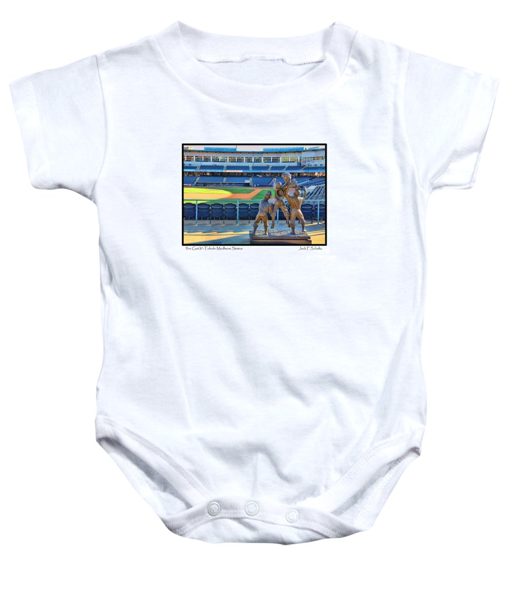 I've Got It Baby Onesie featuring the photograph Ive Got It by Jack Schultz