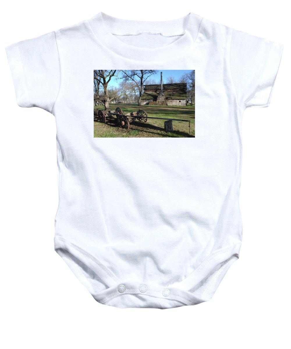 Barn Baby Onesie featuring the photograph Jack Stone Barn by David Crockett