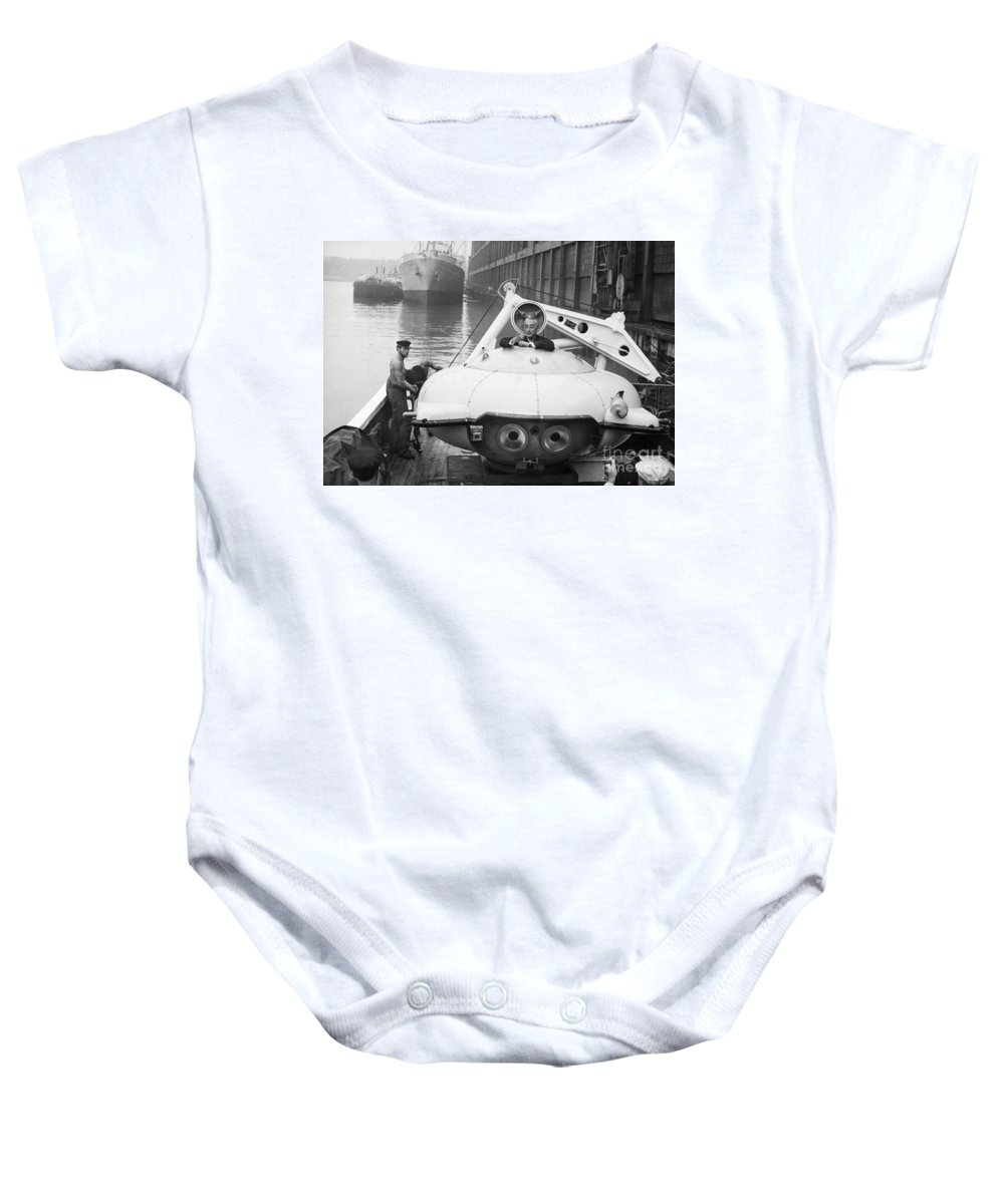 1959 Baby Onesie featuring the painting Jacques Cousteau (1910-1997) by Granger