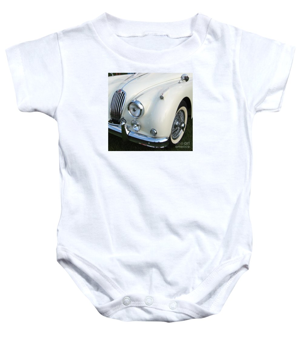 Jaguar Baby Onesie featuring the photograph Jaguar Xk150 by Neil Zimmerman