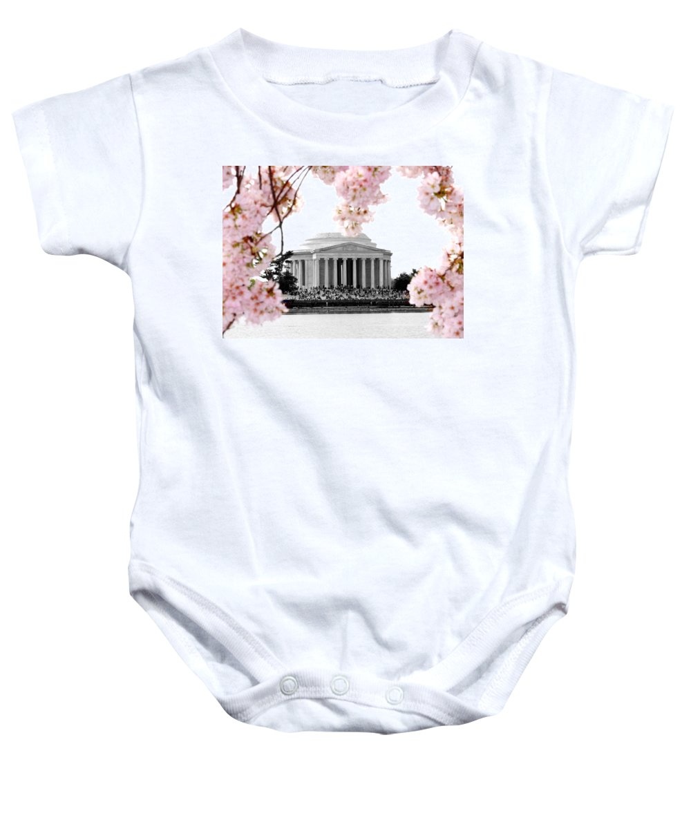 Jefferson Baby Onesie featuring the photograph Jefferson In Spring by Tina Meador