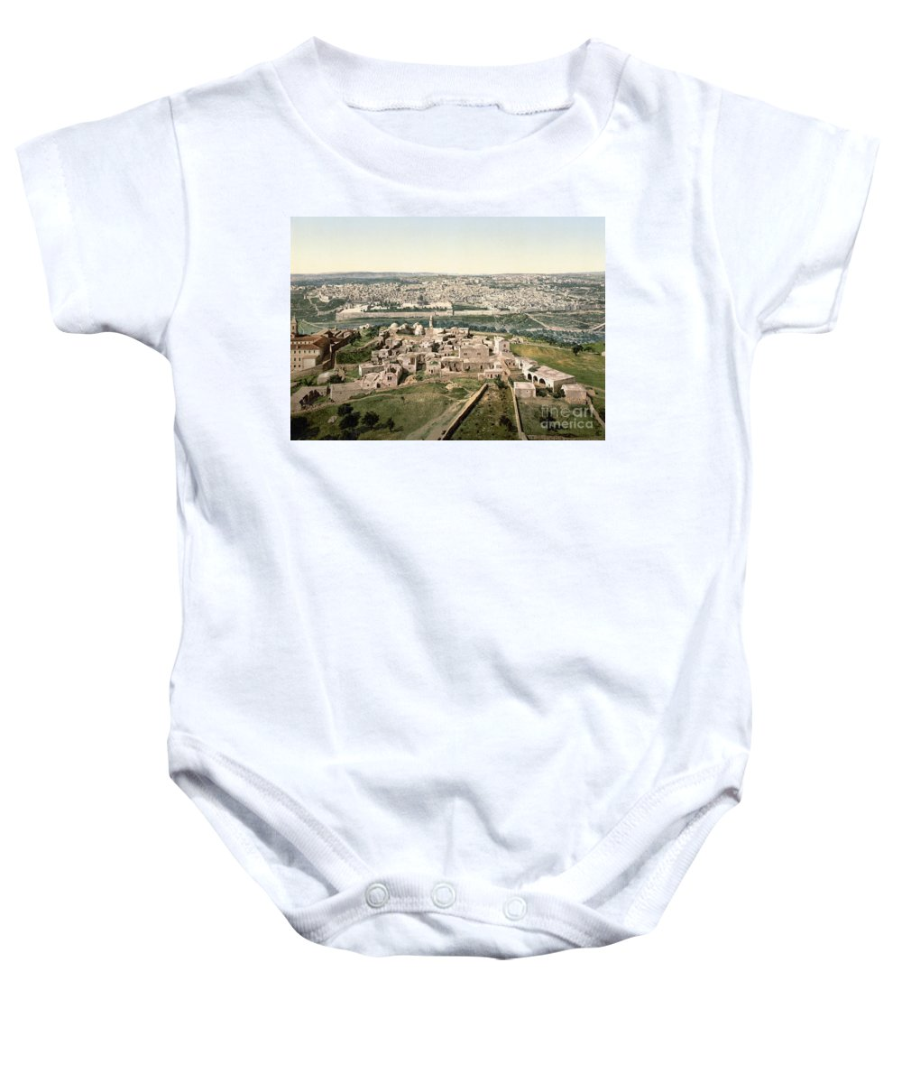 1900 Baby Onesie featuring the photograph Jerusalem, C1900 by Granger