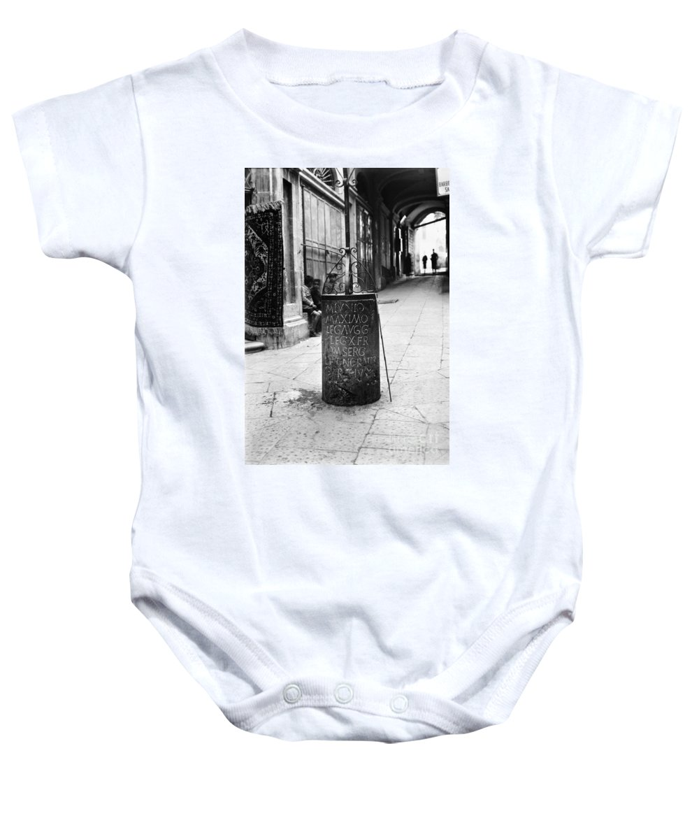 10th Baby Onesie featuring the photograph Jerusalem: Roman Pillar by Granger