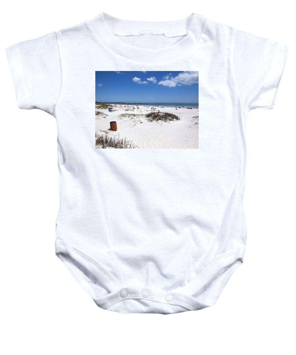 Florida Baby Onesie featuring the photograph Jetty Park At Cape Canaveral In Florida Usa by Allan Hughes