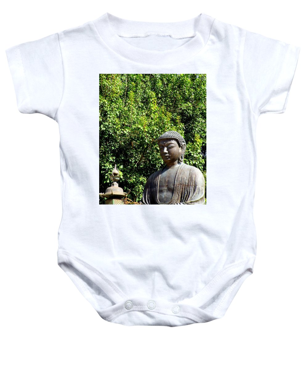 Buddha Baby Onesie featuring the photograph Jodo Mission Lahaina 10 by Randall Weidner