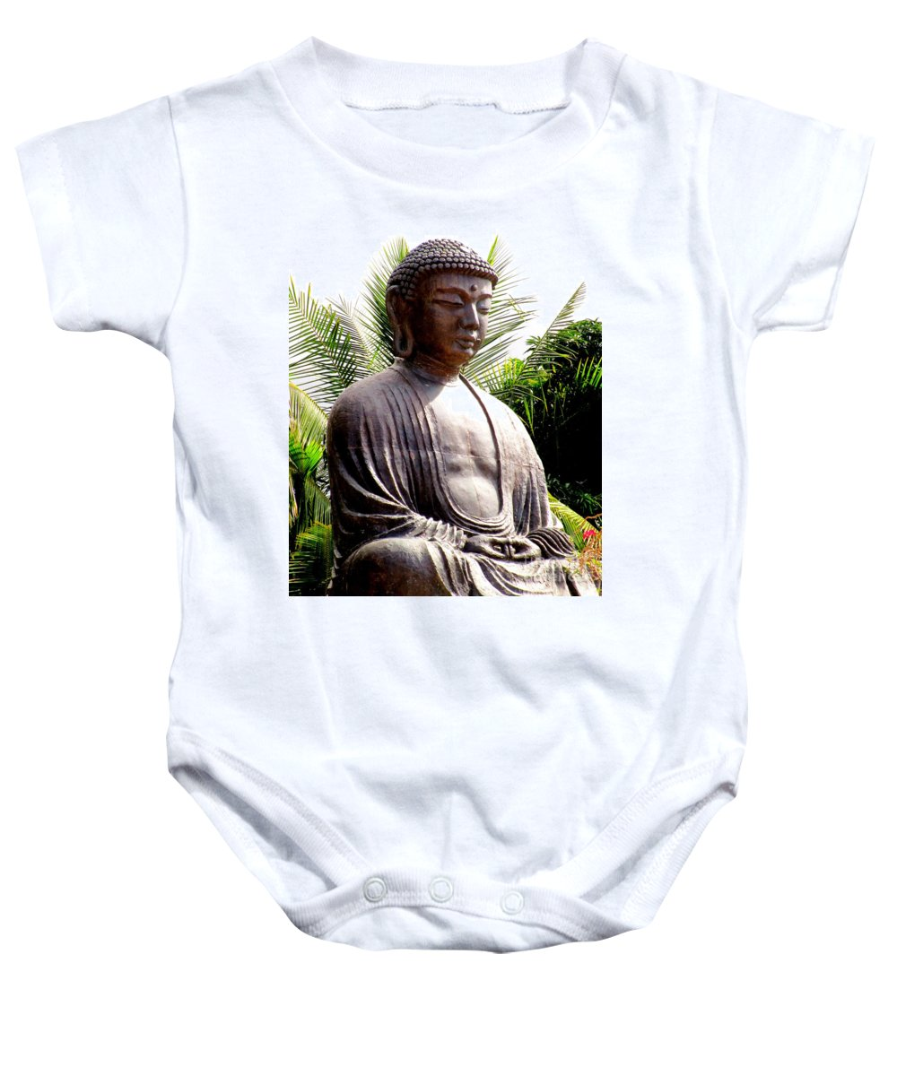 Buddha Baby Onesie featuring the photograph Jodo Mission Lahaina 7 by Randall Weidner