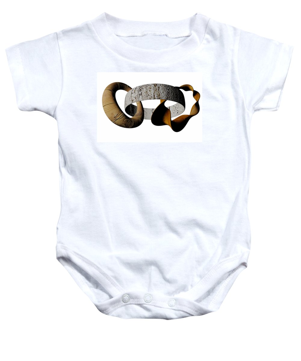 Circle Baby Onesie featuring the digital art Join Circles by R Muirhead Art