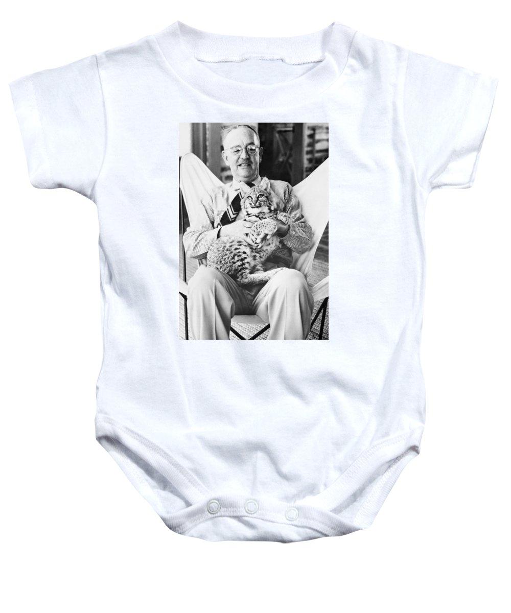 1954 Baby Onesie featuring the photograph Joseph Wood Krutch by Granger