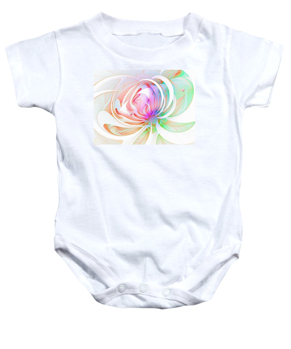 Digital Art Baby Onesie featuring the digital art Joy by Amanda Moore