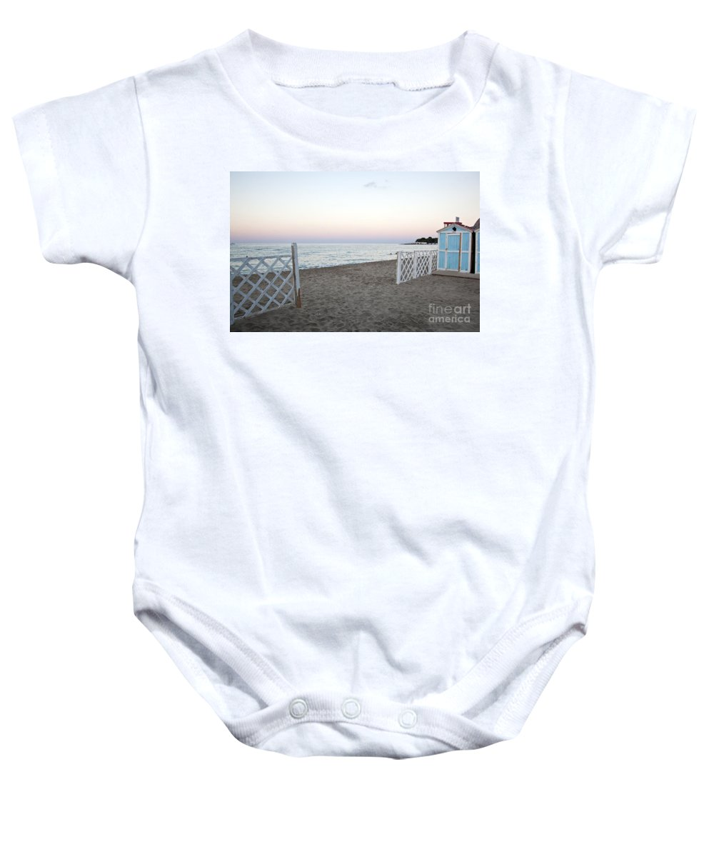 Beach Baby Onesie featuring the photograph Just Before Sunset by Madeline Ellis