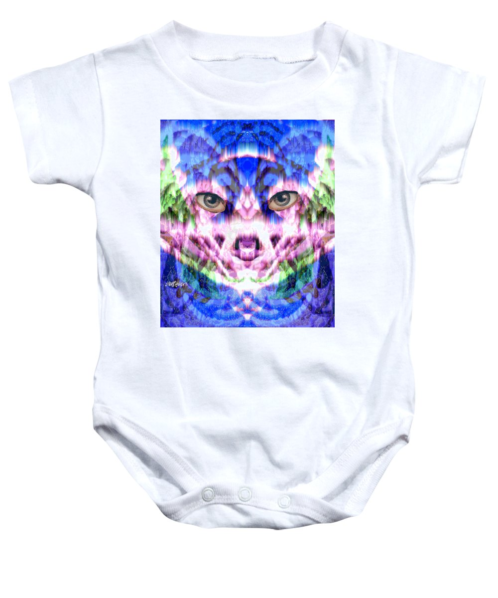 Cat Baby Onesie featuring the digital art Katechism by Seth Weaver