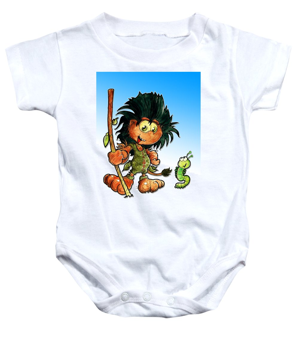 Children Book Baby Onesie featuring the painting Kid Troll by Luis Peres