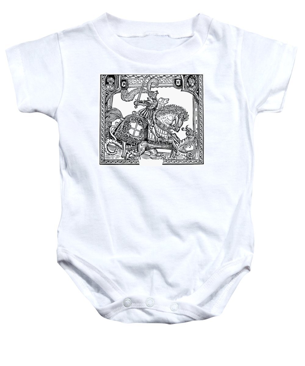 1527 Baby Onesie featuring the photograph Knights: English, 1527 by Granger
